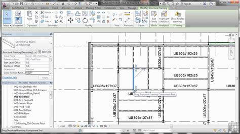 tutorial revit español 2014 revit structure 2014 tutorial adding joist extensions