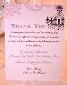 items similar to donation thank you cards in lieu of favors on etsy