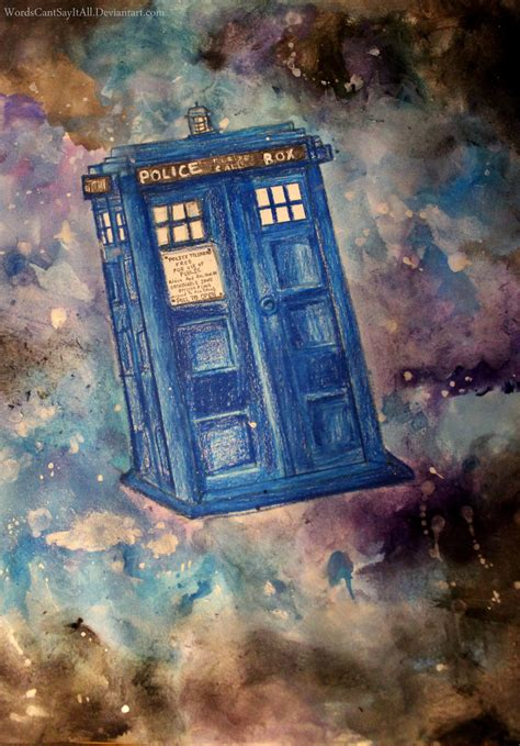 tardis painting by wordscantsayitall on deviantart