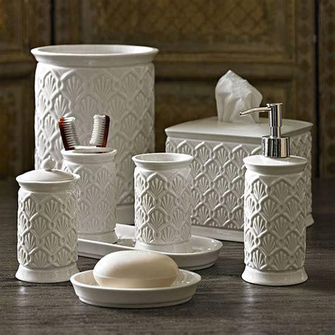 Kassatex Deco Fan Bath Accessories Gracious Style Deco Bathroom Accessories Sets