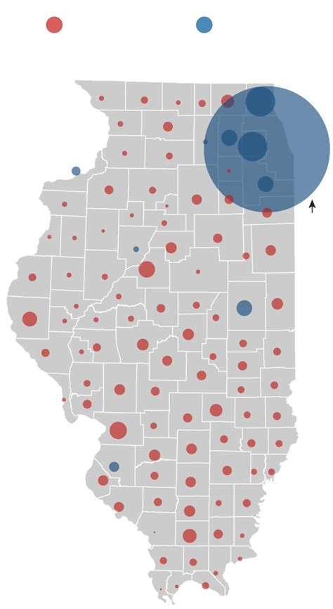 chicago election map illinois presidential vote results by county chicago