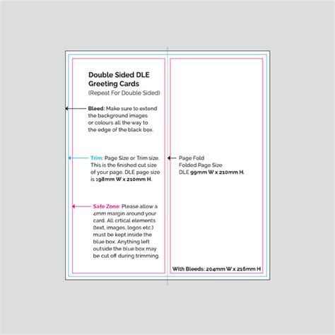 template 2 sided card print printer sided dle greeting