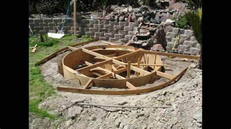 how to build backyard concrete pond or pool part five