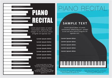 Piano Recital Flyers Download Free Vector Art Stock Graphics Images Recital Ad Templates
