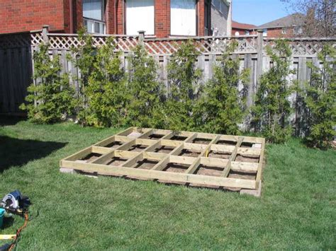 diy shed building how to build a raised floor for a