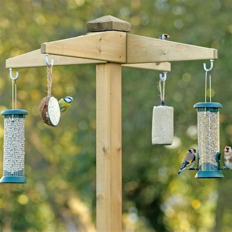 free standing bird feeder station bird feeders