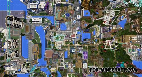 mcpe city maps blue city map v9 3 for minecraft pe 1 2 1 5