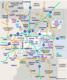 denver colorado area map denver map and surrounding areas www blossomproperties
