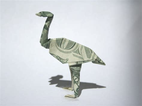 Origami Bird Dollar Bill - rabbit skeleton diagram