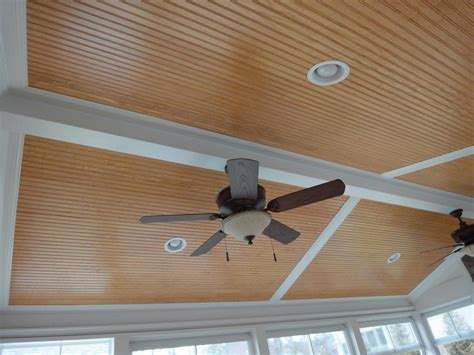 Beaded Plywood Ceiling by Pictures For Cary Deck Screen Porch Construction