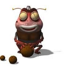 film larva bau mulut gambar cartoon tokoh larva ulat lucu unik kecoa coklat