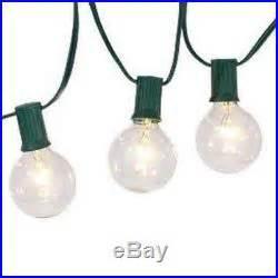 philips globe string lights philips clear globe led string lights set of 25 g40 bulbs