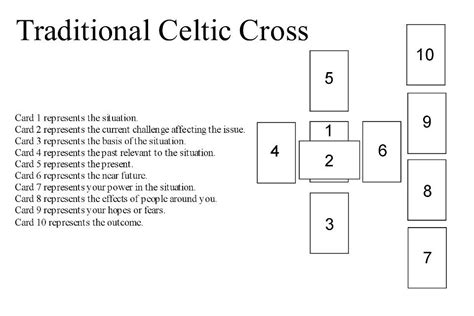 layout person meaning tarot spreads including the celtic cross spread