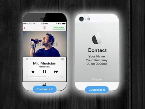 Business Card Iphone Template by Iphone Business Card For Musicians And Djs By Montasy On