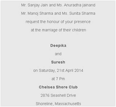 wedding invitations divorced parents wedding card wordings event management india