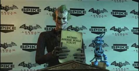 Batman Arkham World the joker lets out batman arkham world at vga awards