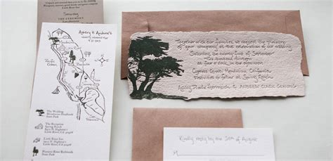 Handmade Paper Invitations - handmade paper wedding invitation with kraft paper tiny