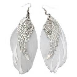 feather earrings for charming jewelry retro wings feather shaped simple angle wing stud earrings unique