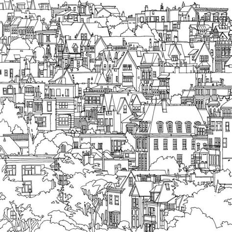 coloring book page of a city the magical city colouring book google search coloring