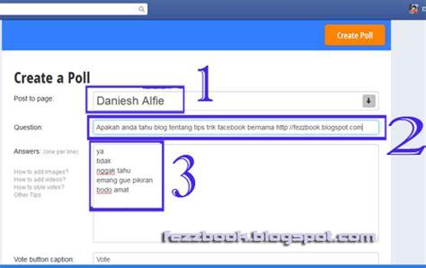 cara membuat status facebook rata tengah cara membuat status polling voting di facebook