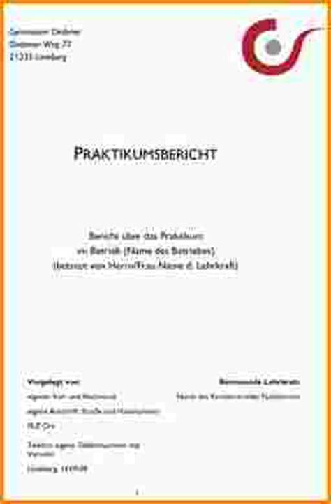Praktikum Deckblatt Vorlage Praktikumsbericht Muster