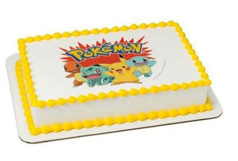 How To Design Your Own Home Bar by Pokemon Image Custom Cake Topper Frosting Sheet