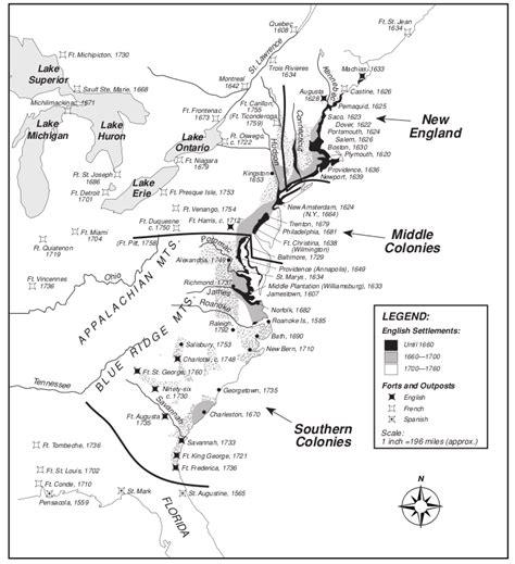 patterns of english settlement colonial region map skills chenault 8th grade social