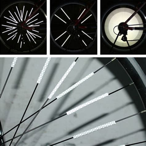 Safety Reflective Roda Sepeda 12pcs 12pcs bicycle bike wheel spoke reflector road mountain bike mtb wheel reflective mount clip