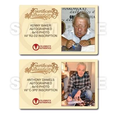 anthony daniels autograph value lot detail kenny baker and anthony daniels autographed 8