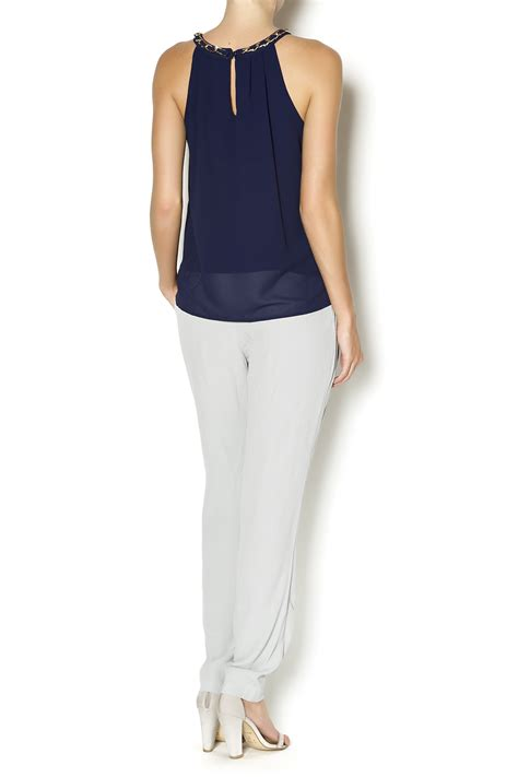 letter chiffon halter top from naples by bio new york