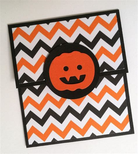 Orange Gift Card - halloween gift card holder orange and black chevron pumpkin on luulla