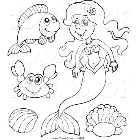 cartoon sea creatures coloring pages coloring pages