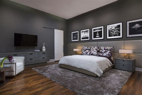 modern bedroom with trends color dands modena custom residence phil kean design group