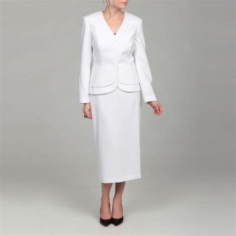 emily s white peplum jacket skirt suit free