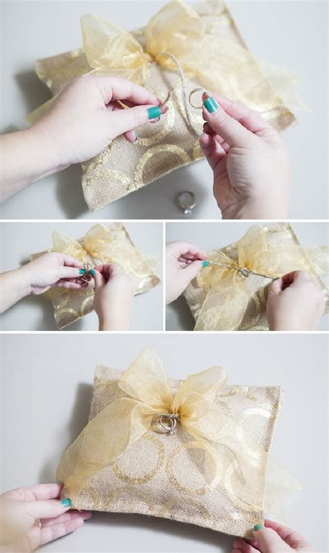 How To Sew Burlap Pillows by Top 10 Diy Tutorials For Your Own Wedding Ring Pillows