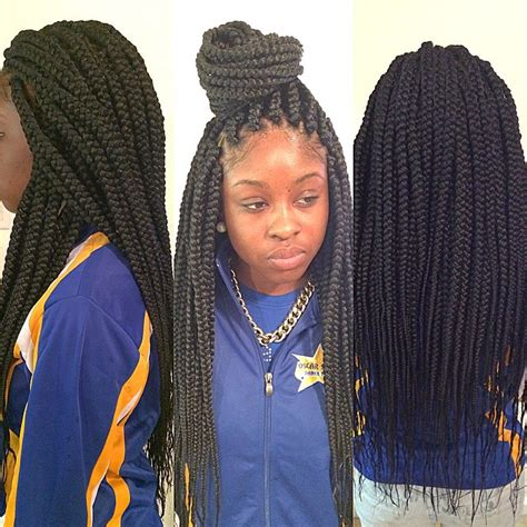 medium box braids medium size long box braids braids culture pinterest