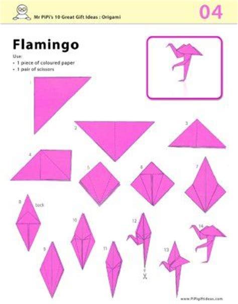 Flamingo Origami - pink flamingo origami printable origami