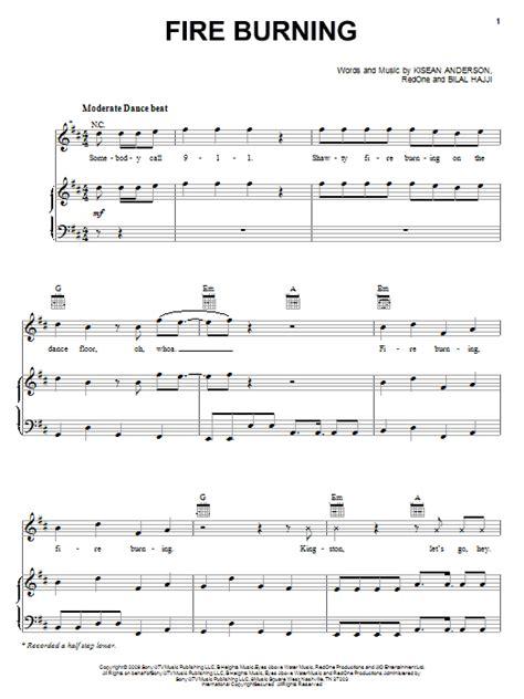 burning house printable lyrics fire burning sheet music direct