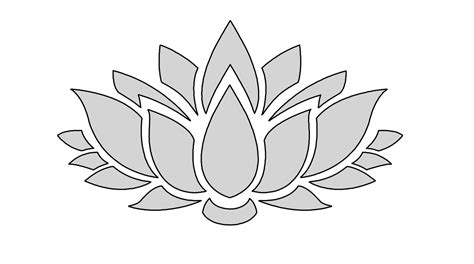 8 quot w string art lotus flower pattern template from