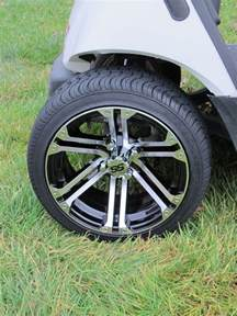 Car Tire On Yamaha Golf Cart Wheel And Dot Tire Combo 14 Wheel Club Car Ez