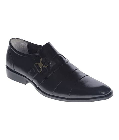 woods black leather formal shoes price in india