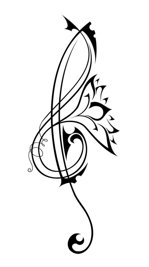 tribal tattoo music tribal tattoos clipart best