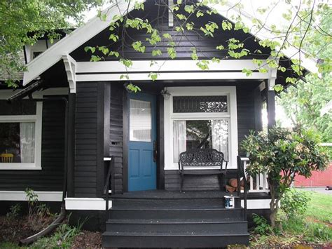 blue house white trim front door black with white trim and bright blue door where the