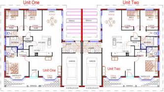 Floor Plans For Duplexes 3 Bedroom by Duplex Designs Floor Plans