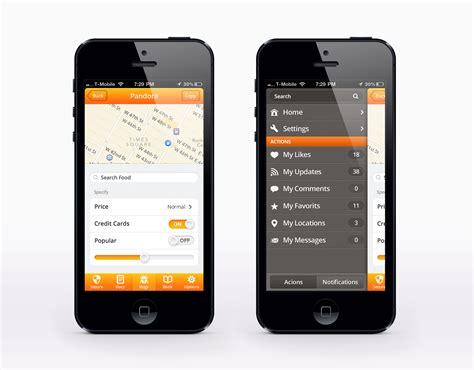 pattern iphone ui pandora ui for ios user interface pack designmodo