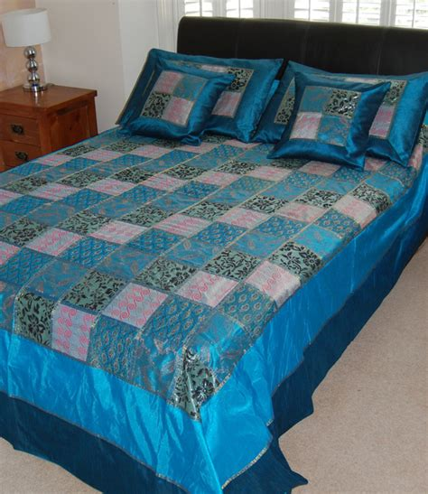 Indian Comforter Sets by Teal Blue Indian Bedspread Set Comforters And