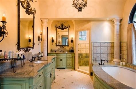 Tuscan Bathroom Colors by Tuscan Bathroom With Light Green Color Tuscan Style
