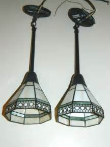 Used Pendant Lighting Qty 2 Stained Glass Hanging Ceiling Pendant Light Ls 20 Quot Hang Used Works Ebay Lighting