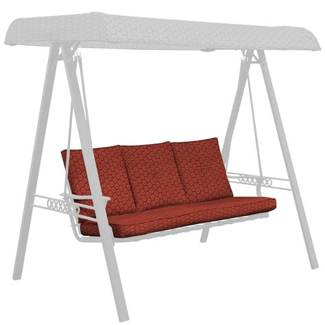 porch swing cushions clearance shop jaydon geo swing cushion at lowes com