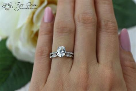 Oval Set 1 1 5 ctw oval deco swirl ring solitaire bridal set